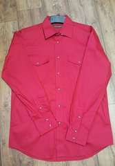 Roper Red Snap Long Sleeve