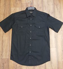 Roper Black Snap Short Sleeve