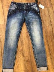 Miss me ladies cuffed skinny jeans