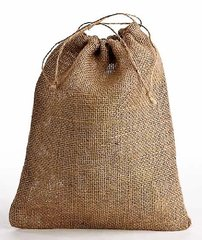 Jute/Hessian Drawstring Bags in a variety of sizes from 10cm x 12cm to 60cm x 70cm Size 15cm x 18cm