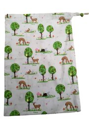 Deer by the Tree, Drawstring bags, size 25cm x 35cm. DEER by the TREE