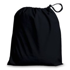 Poly-Cotton Drawstring Bags in 8 useful sizes and 23 colours, matching fabric drawstrings + machine washable. BLACK 25cm x 35cm