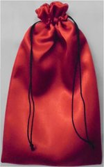 Drawstring Bags, in a Satin style material, choice of colour and size, RED 9cm x 18cm