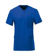 Scrub Tunic in Poly-Cotton, choice of 8 sizes and 19 colours. ROYAL BLUE Chest 86.5 cm - 91.5 SMALL