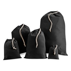 Strong cotton/calico storage bags, useful for storing/transporting just about anything! Large choice of sizes, S Small 25cm x 30cm BLACK