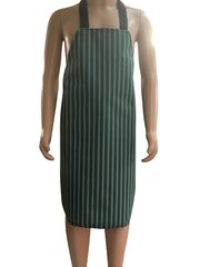 Child's Waterproof 'Butchers Stripe Style' Aprons, Size 7 years old to 10 years old DARK GREEN
