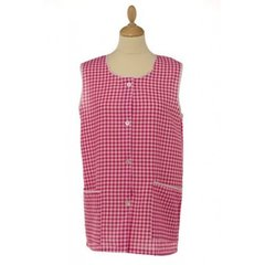 Tabards with large twin pockets and button thro front fastening, 100% Polyester for excellent wear and wash-ability, Offered in 6 pleasing Gingham pattern colours and 6 sizes.. MID BLUE Size WMS 8-10