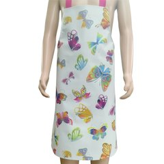 Children's 7-10 year old PVC 'easy wipe clean aprons, BUTTERFLY