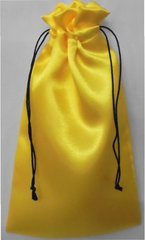 Drawstring Bags, in a Satin style material, choice of colour and size, Gold 9cm x 18cm