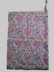 Geometric style Cotton Poplin Drawstring Bag. Size 25cm x 35cm. GEOMETRIC