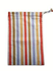 Bright Stripe Drawstring Bag. Size 25cm x 35cm. BRIGHT STRIPE
