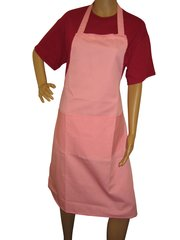Aprons, full size adults, with large pockets, choice of colour, PINK
