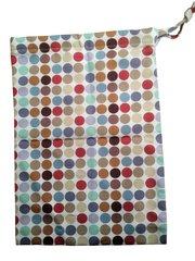 Multi Spot Drawstring Bag. 25cm x 35cm. MULOTI COLOUR SPOTS