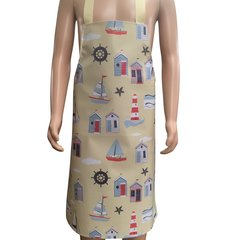 Adult PVC 'easy wipe clean aprons, SEASIDE BEACH HUT