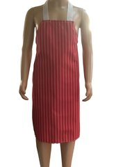 Child's Waterproof 'Butchers Stripe Style' Aprons, Size 7 years old to 10 years old RED