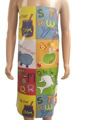 Children's 4-6 year old PVC 'easy wipe clean aprons, ALPHABET
