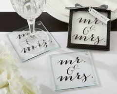 Classic Mr. and Mrs. Coasters - Set of 2