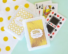 Personalised Mettalic Foil Playing Cards - Wedding Theme