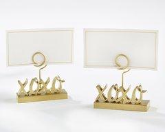XOXO GOLD PLACE CARD HOLDER (SET OF 6)