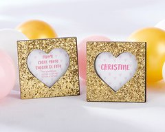 Gold Glitter Heart Frame