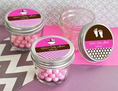 Personalised Baby Shower Small 4 oz Mason Jars
