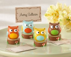 """Whooo's the Cutest"" Baby Owl Place Card Holders - Set of 4 assorted"