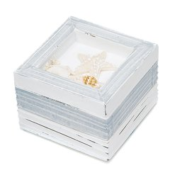 Beach Theme Wooden Trinket Boxes - Set of 12
