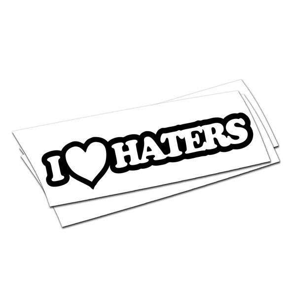 I heart Haters Sticker