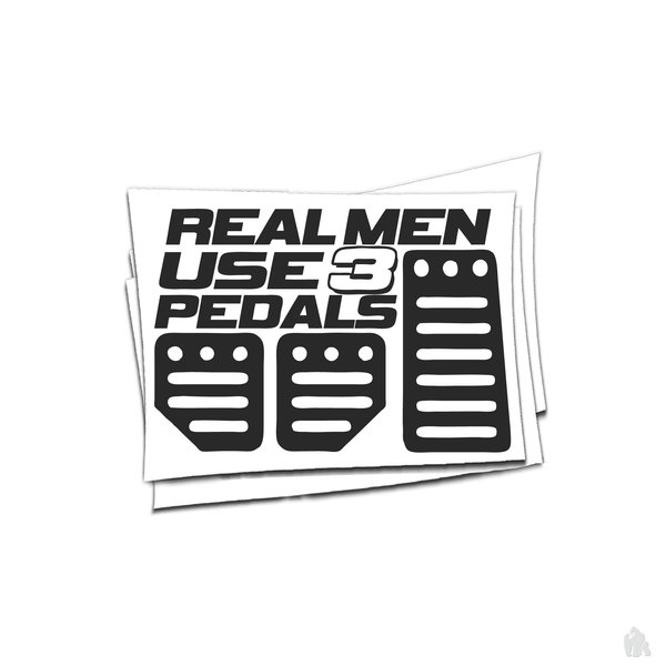 Real men use 3 pedals sticker
