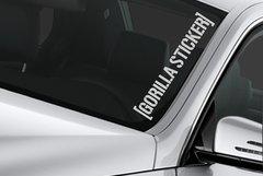 FREE Gorilla Sticker windshield banner sticker