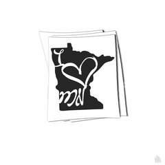 Minnesota i heart MN sticker