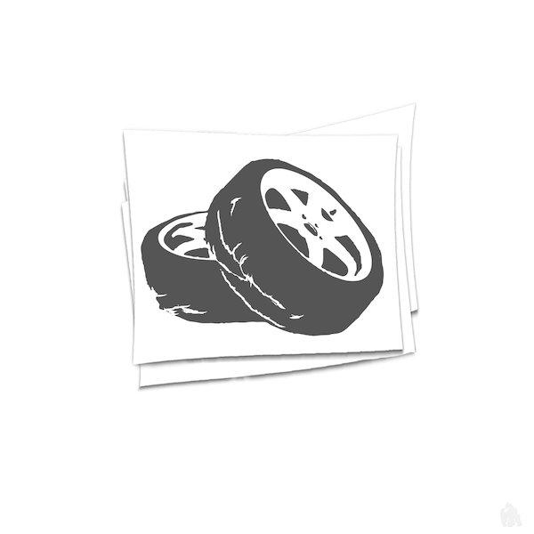 drift tires Sticker