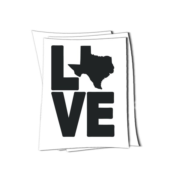Texas love art sticker