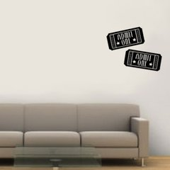 admit one wall decals