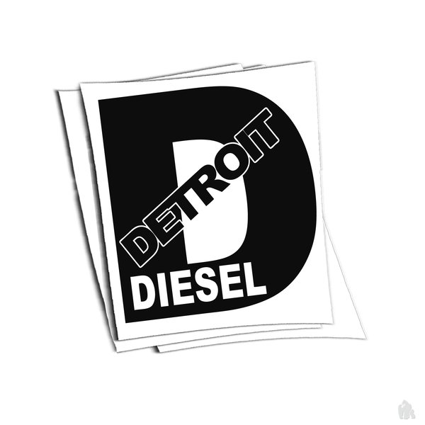 detroit diesel sticker