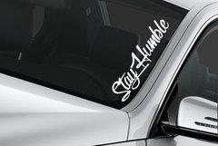 custom windshield banner sticker