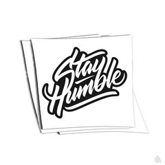 stay humble v2 sticker