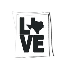 Texas love art sticker