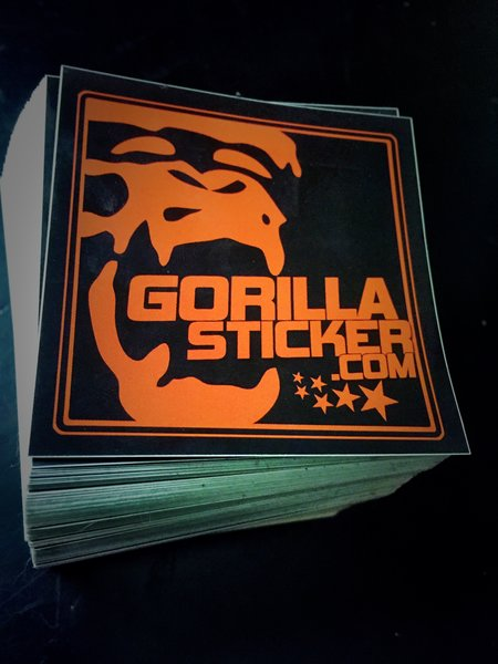 Custom Printed X Stickers Gorilla Sticker - Custom printed vinyl stickers