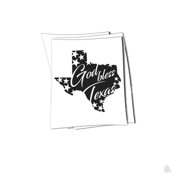 Texas god bless sticker