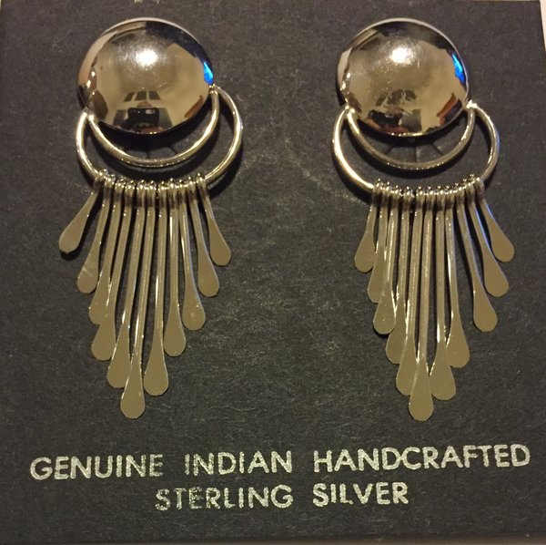 Signed Paul Armstrong Sterling silver dangle earrings.