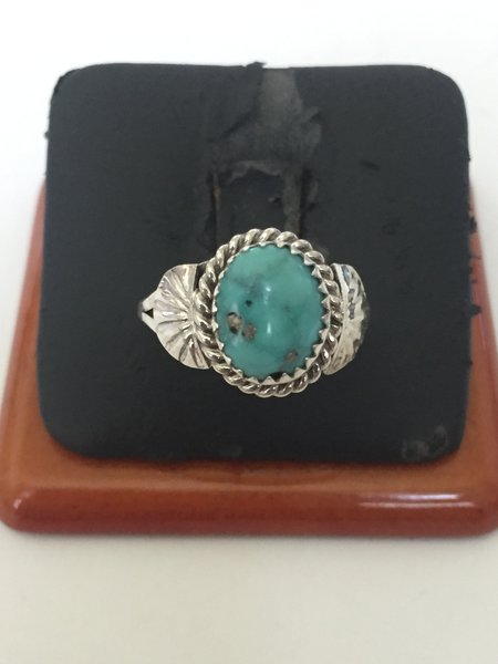 Navajo sterling silver & turquoise ring.