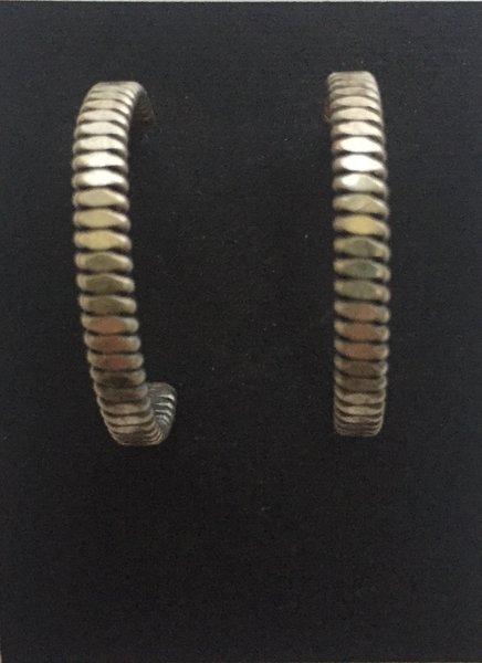 Handmade sterling antique finish hoops