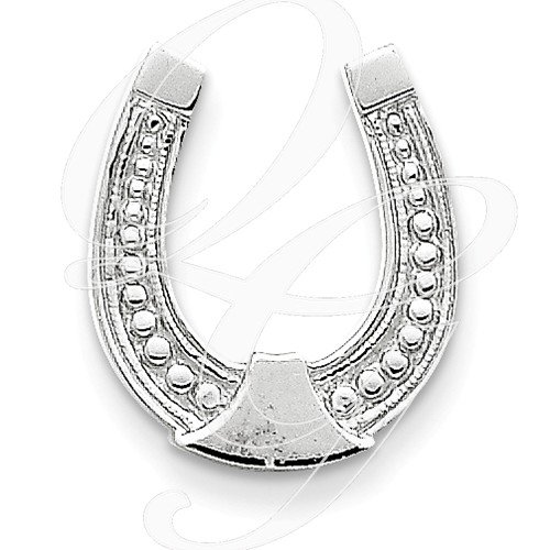 14K WHITE GOLD HORSESHOE PENDANT BY WAY OUT WEST ONLINE JEWELRY