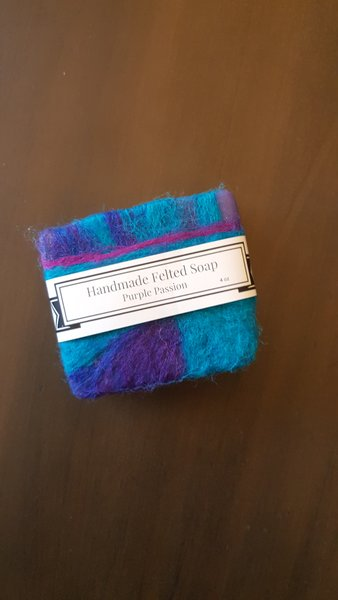 Felted Purple Passion Soap