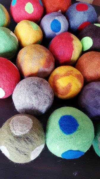 Handmade Wool Dryer Balls Extra Large Set