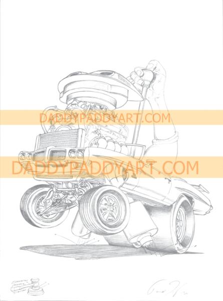 "1970 GTO Judge Convertable - Print 17""x 24"""