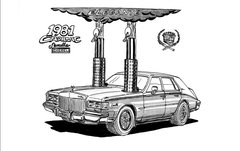 """1981 CADILLAC SEVILLE DIESEL SIGNED PRINT 17""""X 22"""" PAPER"""