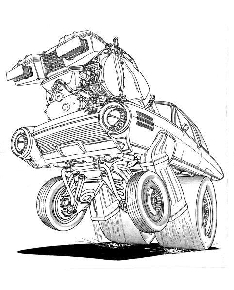 "CHRYSLER TURBINE CAR . PRINT ON 17"" X 24"" PAPER"