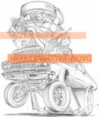 """1968 Road Runner - Print 17""""x 24"""""""